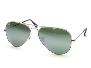 12345ad49ea9e Ray-Ban Ray Ban Aviator RB3025 Sunglasses 58mm Silver With Green Lens