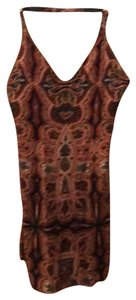 Alice + Olivia short dress orange and black with multi colored Paisley pattern on Tradesy