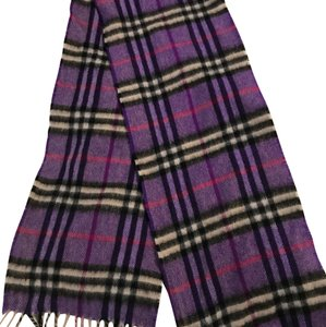Burberry Burberry Purple Check Scarf