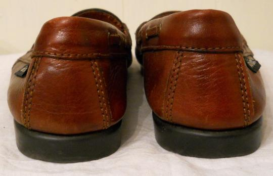 Outback Red Leather Tassel Loafers Brown Flats