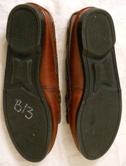 Outback Red Leather Tassel Loafers Brown Flats Image 3