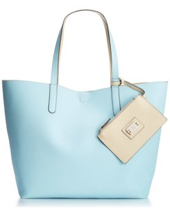 Style & Co Reversible Black Tote in blue