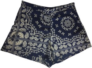 Missguided Dress Shorts Navy Blue, Ivory