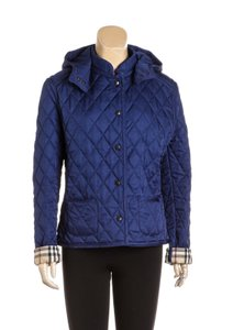 Burberry Navy Blue Leather Jacket