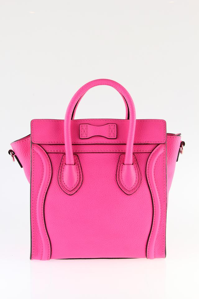 ca2a4cec06 Céline Luggage Nano Hot Pink Leather Satchel - Tradesy