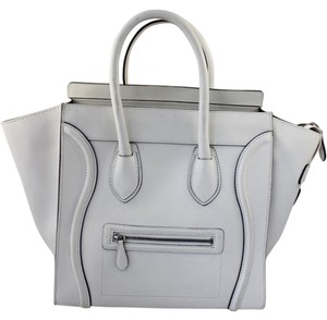 Céline Phantom Collection Penny Lane Satchel in White