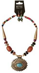 Ethnic Wooden Beads Necklace