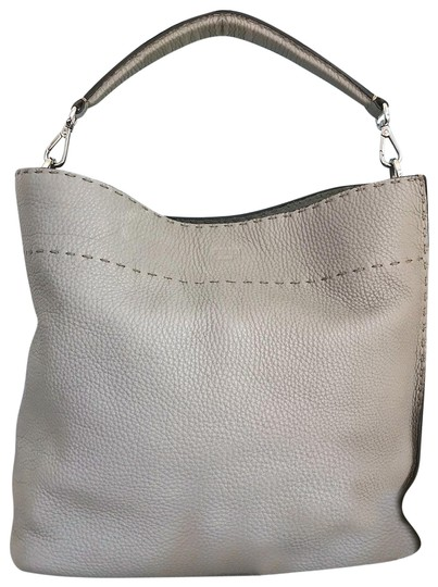 Preload https://item4.tradesy.com/images/fendi-pebbled-selleria-anna-gray-leather-hobo-bag-22854468-0-1.jpg?width=440&height=440