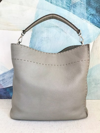 Fendi Leather Selleria Anna Hobo Bag