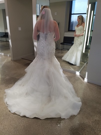 Sottero and Midgley Ivory with Pewter Accent Tulle Donalee (9567) Modern Wedding Dress Size 14 (L)