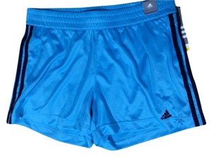 adidas Adidas Women's Tech Mesh Workout Exercise Shorts Blue NWT Size Large