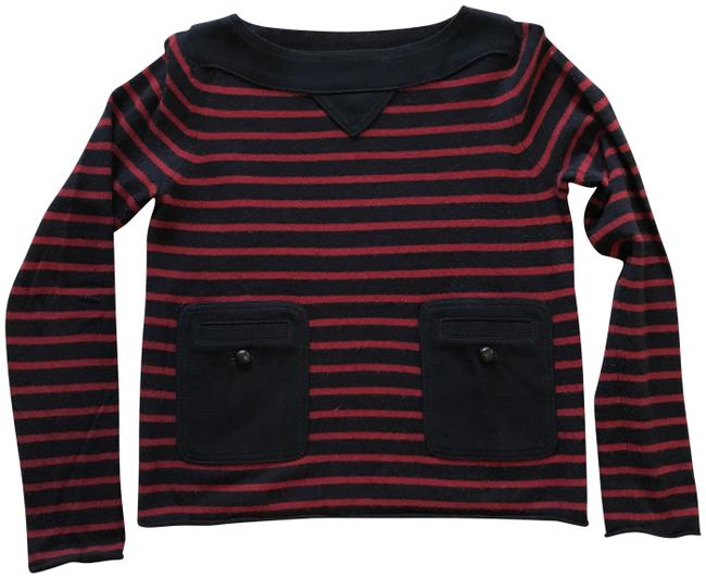 Preload https://img-static.tradesy.com/item/22854670/tory-burch-cashmere-owen-navy-and-red-sweater-0-2-650-650.jpg