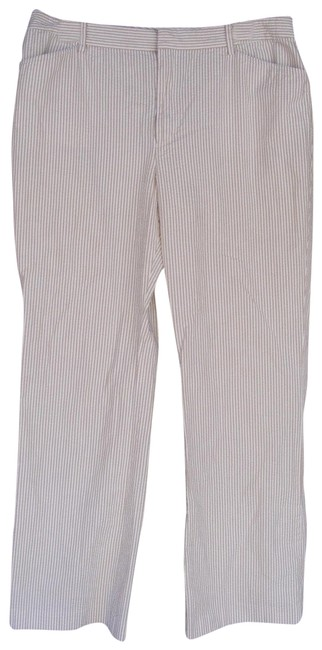 Preload https://img-static.tradesy.com/item/22854696/lauren-ralph-lauren-khaki-white-khakiwhite-seersucker-cotton-zipper-straight-leg-pants-size-12-l-32-0-2-650-650.jpg