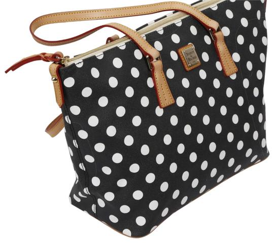 Preload https://img-static.tradesy.com/item/22854702/dooney-and-bourke-polka-dot-black-canvas-tote-0-1-540-540.jpg