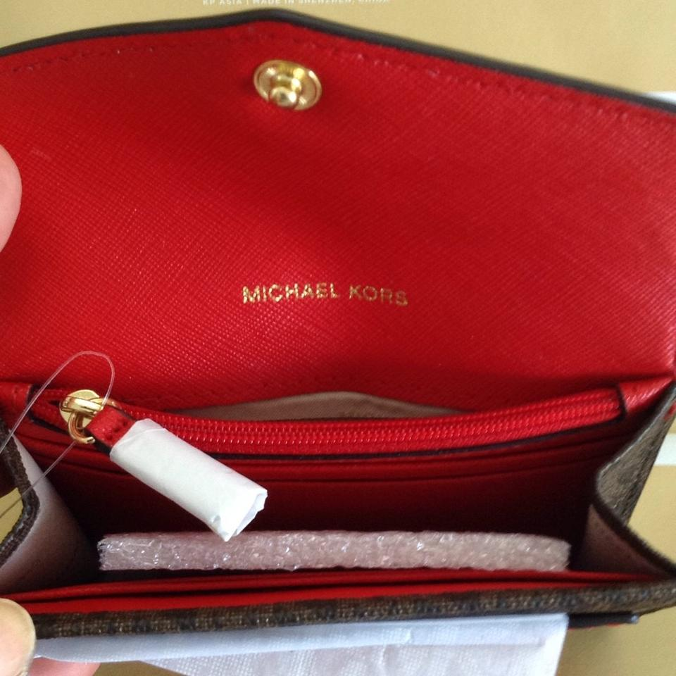 3aca7f3be92c Michael Kors Honey Medium Card Holder Wristlet Image 10. 1234567891011