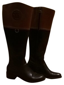 Etienne Aigner Black / Brown Boots