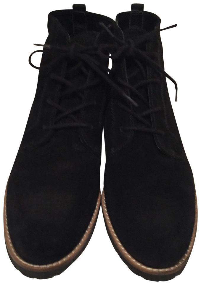2409d3ff73bbe Franco Sarto Black Lace Up (226757) Suede Ankle Boots/Booties Size ...