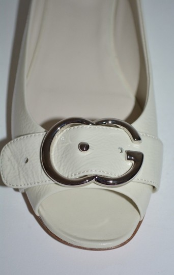 Gucci Leather Sandals Studded Sandals Ivory Flats