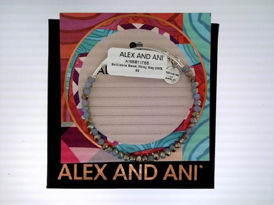 Alex and Ani Alex and Ani Brilliance Bead Milky Way Light Blue Bracelet - A16EB117S
