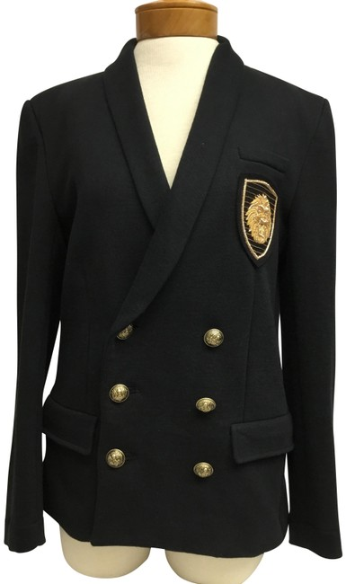 Preload https://item3.tradesy.com/images/balmain-black-double-breast-jacket-with-gold-buttons-blazer-size-12-l-22854857-0-2.jpg?width=400&height=650