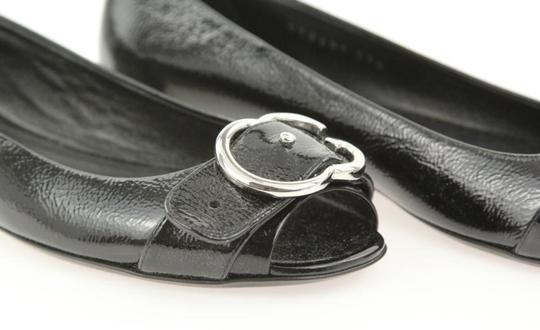 Gucci Leather Studded Sandals Salandia Silver Belted Black Flats