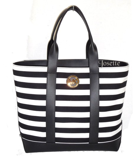 Preload https://img-static.tradesy.com/item/22854909/michael-kors-striped-black-and-white-canvas-tote-0-0-540-540.jpg