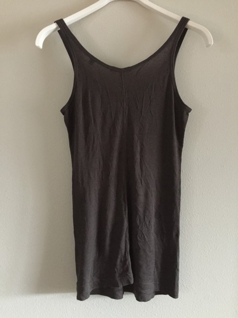 Vince Scoop Back Vintage Casual Top Brown