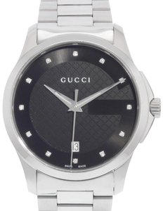 Gucci G-Timeless Diamond Accent Stainless Steel Watch 38mm YA126456 (17956)