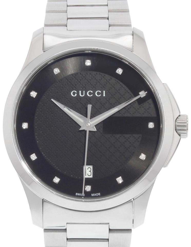 e628bdf68bb Gucci G-Timeless Diamond Accent Stainless Steel Watch 38mm YA126456 (17956)  Image 0 ...