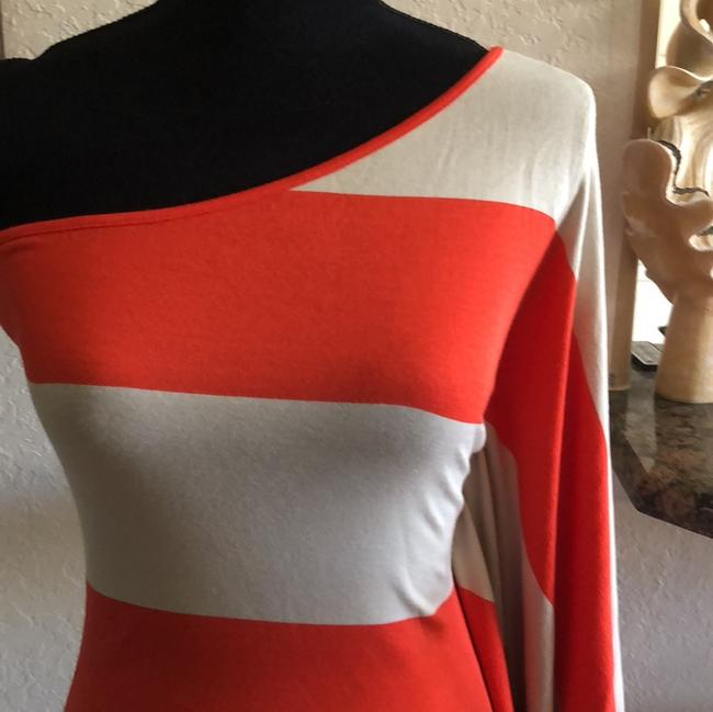 Expre short dress orange & cream on Tradesy