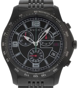 Gucci Chronograph Black Dial Stainless Watch (17752)