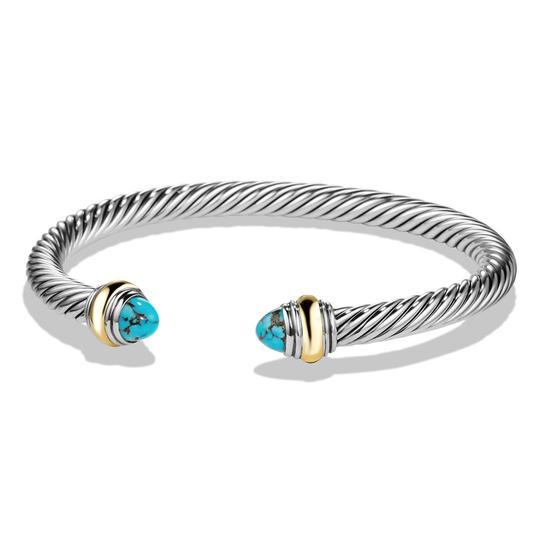 Preload https://img-static.tradesy.com/item/22855045/david-yurman-blue-silver-cable-classic-with-turquoise-and-14k-yg-bracelet-0-0-540-540.jpg
