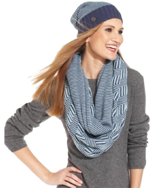 Item - Black/White Plaited Geo Infinity Scarf/Wrap
