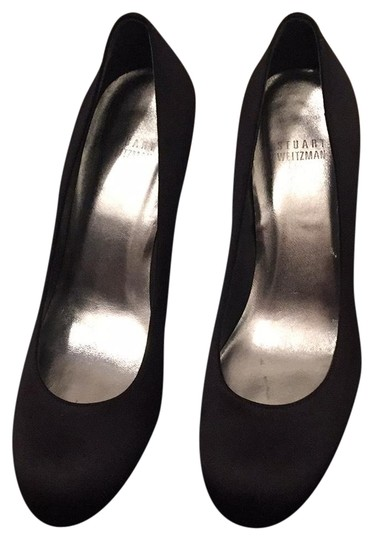 Preload https://img-static.tradesy.com/item/22855139/stuart-weitzman-satin-black-pumps-size-us-95-regular-m-b-0-2-540-540.jpg