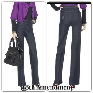 18th Amendment Waist Designer Trouser/Wide Leg Jeans-Dark Rinse