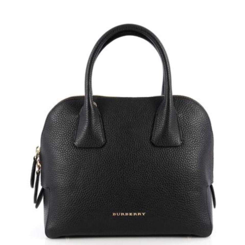 Burberry Women s Medium Grainy Bowling Black Leather Cross Body Bag ... abe8a14270f8f