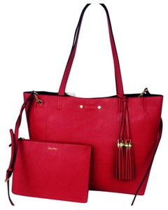 Calvin Klein Tote in black with red
