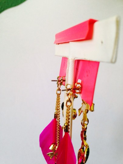 Betsey Johnson Betsey Johnson 2 Ways To Wear Bees & Ladybug In Enamel Dangle Earrings Only! Matching Necklace Sold Seperately.