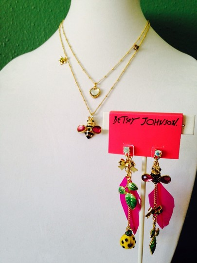 Betsey Johnson Betsey Johnson 2 Ways To Wear Bees & Ladybug In Enamel Dangle Earrings Only! Matching Necklace Sold Seperately. Image 7