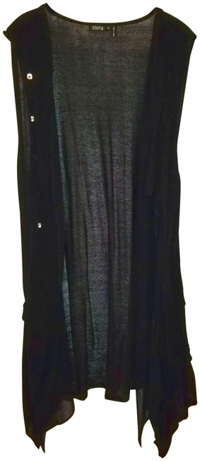 Preload https://img-static.tradesy.com/item/22855285/black-xl-open-front-cardigan-duster-vest-size-16-xl-plus-0x-0-1-650-650.jpg