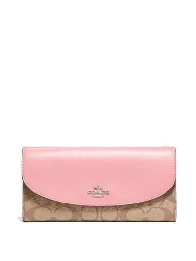 Preload https://img-static.tradesy.com/item/22855338/coach-khaki-blush-signature-checkbook-f57319-wallet-0-1-540-540.jpg