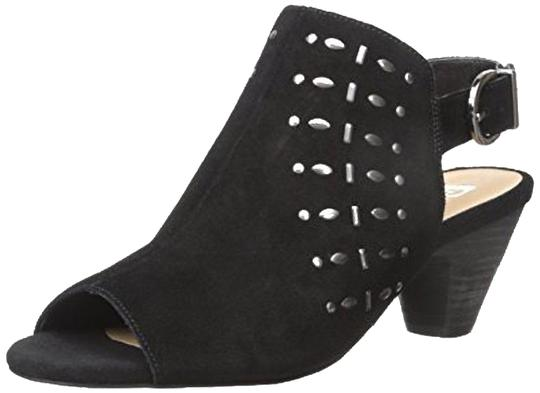 JOE'S Jeans Mule Chunky Open Toe Studded Slingback Black Sandals