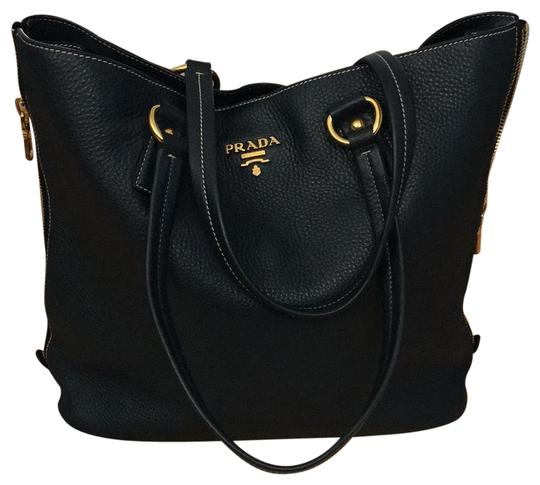 Preload https://item3.tradesy.com/images/prada-with-side-zippers-br4372-blue-gold-leather-tote-22855382-0-1.jpg?width=440&height=440