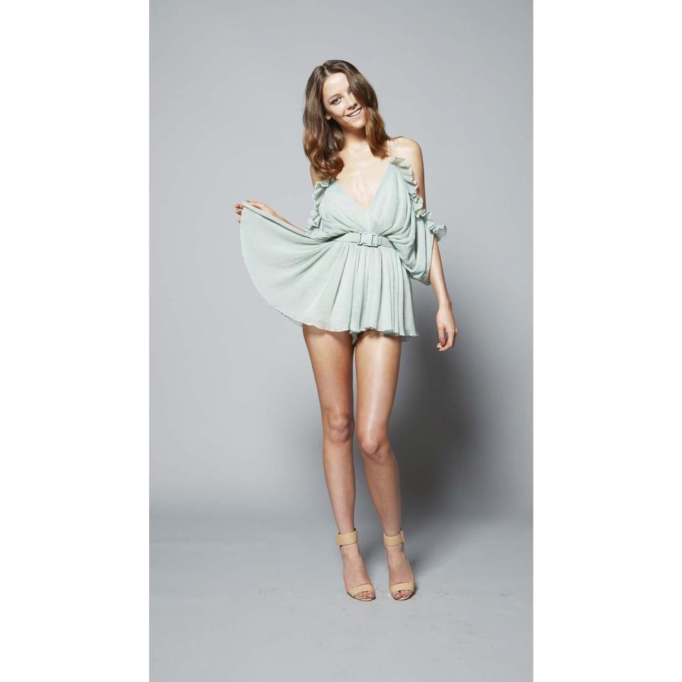 a0bb720a24 alice McCALL Green At First Sight Playsuit Short Casual Dress Size 4 ...