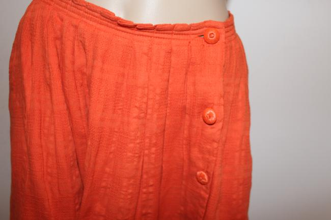 Anthropologie Mini Skirt Orange