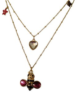 Betsey Johnson Betsey Johnson Bumble Bee With Charms Double Strand NecklaceOnly! Additional Matching Pieces Sold Seperately.