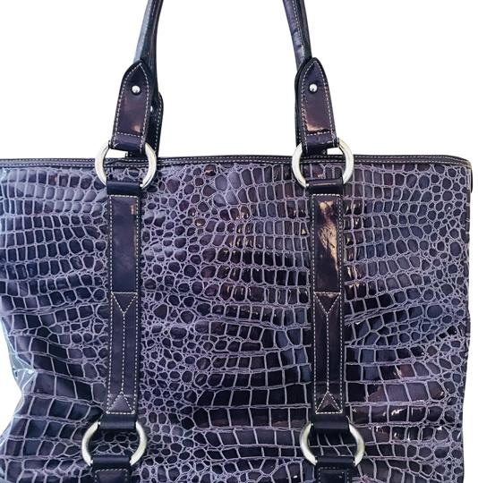 Preload https://item3.tradesy.com/images/apostrophe-with-short-handled-purple-vinyl-tote-22855512-0-1.jpg?width=440&height=440