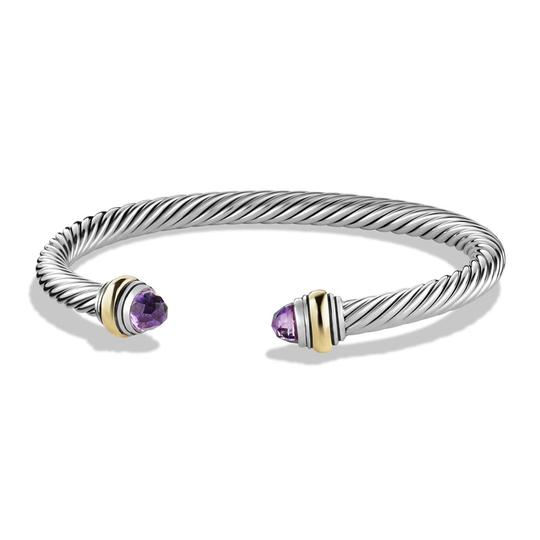 Preload https://img-static.tradesy.com/item/22855666/david-yurman-purple-silver-cable-classic-with-amethyst-and-14k-yg-bracelet-0-0-540-540.jpg