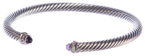 David Yurman Cable Classics Bracelet with Amethyst 5mm Size Medium $625 NWOT