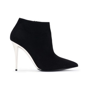 Ralph Lauren Suede Shiny Heels Stylish Black Boots